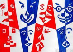 Tekenen en zo: Spiegelgezichten