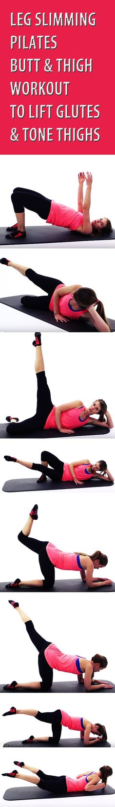 Pilates is a great low impact, easy-on-the-knees way to tone and shape the lower body, particularly the butt and thighs. Make no mistake; despite this not being one of our more advanced routines, your legs will be burning before you're finished with this workout! WORKOUT STRUCTURE: 40 Seconds Active, 10 Seconds Rest.  #buttworkout #thighworkout #buttlift #bubblebutt #gluteworkout