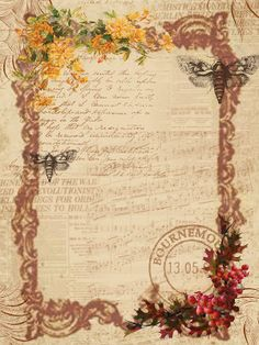 Autumn Background paper free to use Decoupage Vintage, Decoupage Paper, Vintage Paper, Scrapbook Vintage, Scrapbook Paper, Background Vintage, Paper Background, Music Background, Frame Background