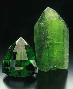 Chrysolite; also known as Peridot when in gem quality is devived from the mineral called Olivine