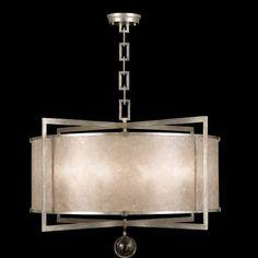 Fine Art Lamps Singapore Moderne 8-Light Drum Pendant Finish: Muted Silver Leaf