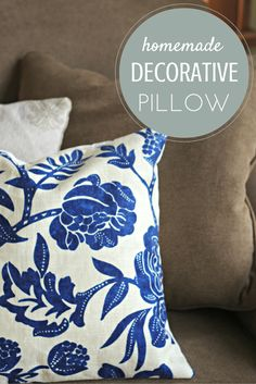 Here's how to make a simple decorative pillow in less than 20 minutes!  These step by step instructions make this an easy DIY project for your home!