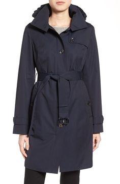 MICHAEL MICHAEL KORS Hooded Trench Coat (Regular & Petite). #michaelmichaelkors #cloth #