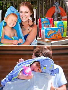 Cute Whale Hooded Towels for Kids - #LittleSwimmers Pool Party