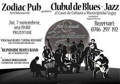 Trei concerte într-unul singur, în cadrul Clubului de Blues Jazz, de la Zodiac Pub: joi , 7 noiembrie 2013 | Actualitatea Online