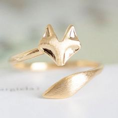 What does the fox say??  super cute ring!