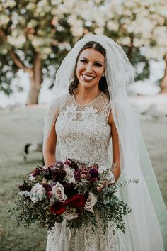 Moody Industrial Urban Winery wedding at Coopers Hall Winery and Taproom in Portland, Oregon Bride Bouquets, Bridesmaid Bouquet, Wedding Bells, Wedding Bride, Wedding Ideas, Wedding Dress With Veil, Wedding Dresses, Wedding Flower Arrangements, Wedding Flowers