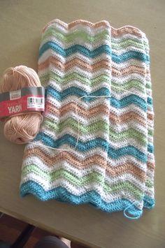 Ripple crochet blanket