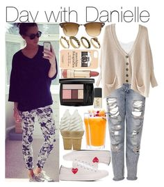 """""""Day with Danielle"""" by kiksfashion ❤ liked on Polyvore featuring Alice In The Eve, Topshop, Converse, Ray-Ban, DesignSix, Kate Spade, Forever 21 and Lancôme"""