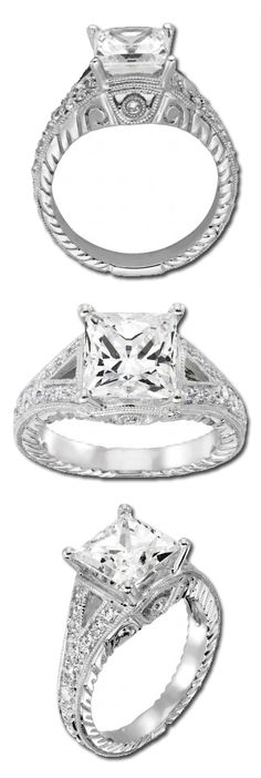 Artisan Carved Valencia Engagement Ring