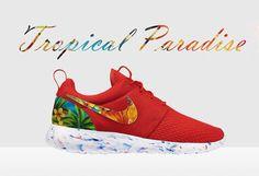 Custom Nike Roshe Run Tropical Nike Roshe Run Red by MindysLab,  180.00 Nike  Shoes Cheap 97e635e02b