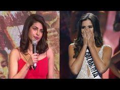 Priyanka Chopra reaction on tragedy happens with Miss Colombia Miss Colombia, Miss Universe 2015, Priyanka Chopra, Interview, Photoshoot, Shit Happens, Youtube, Beauty, Photo Shoot