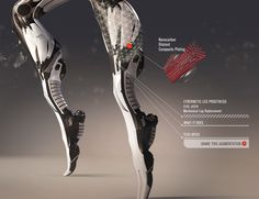 Cybernetic leg prosthesis by Sarif Industries from DX:HR **** I am going to get this leg. ****
