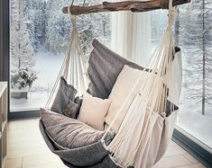 Hammock chair for home and garden, for interior and relax.- Hammock chair for home and garden, for interior and relax. by HammockChairStudio… Hammock chair for home and garden, for interior and relax. by HammockChairStudio on Etsy - Interior Decorating, Interior Design, Decorating Ideas, Interior Ideas, Swinging Chair, Rocking Chair, Dream Rooms, My New Room, Home Design