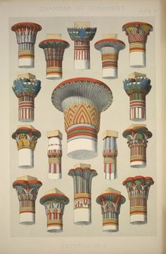 Ancient Egyptian Capitals Illustration of the. - Egyptian Capitals Egyptian Capitals from… - Ancient Egypt Art, Ancient Artifacts, Ancient Greece, Ancient Aliens, Ancient History, Architecture Classique, Art And Architecture, Ancient Egyptian Architecture, Egypt Museum