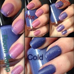 I'm not a pansie! Thermal nail polish hand poured by Echoes Polish