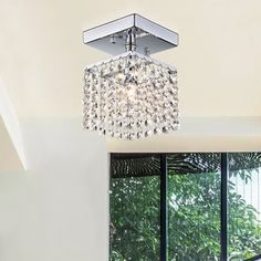 Jhea 1-light Crystal 5-inch Chrome Chandelier - Free Shipping On Orders Over $45 - Overstock.com - 17915506 - Mobile