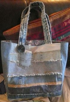 Cute recycled denim bag