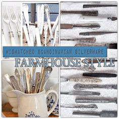 Scandinsvian vi tage mismatched flatware set $15-200. Order now for delivery before the Holidays! https://www.etsy.com/se-en/listing/556844066/mismatched-farmhouse-style-silverware