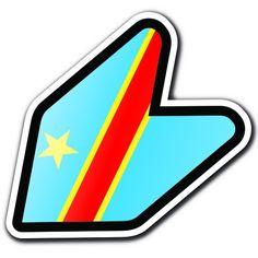 "CONGO DEMOCRATIC REPUBLIC - 4"" Concolese Flag JDM Wakaba Shoshinsha Mark New Driver Badge Leaf Sign Car Bumper Stickers Decals Adelia Co http://www.amazon.com/dp/B016HCNUIS/ref=cm_sw_r_pi_dp_kkohwb0JNHK2E"