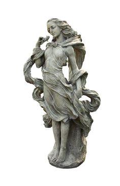 Amazon.com : Napco Girl In The Wind Garden Statue, 36 Inch Tall