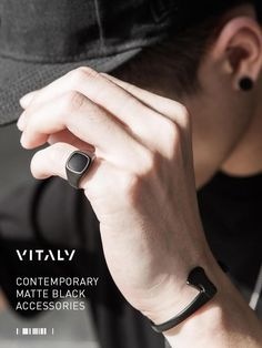 Newly released // the Bold in Matte Black Accessories are now available at Vitality. Contemporary rings and bracelets tailored to the sleek and unique - a perfect purchase for any trendsetter.