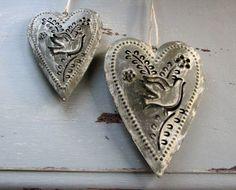 Metal Dove Heart