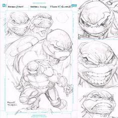 Crossover Batman TMNT : sollicitation et concept art Comic Book Artists, Comic Books Art, Comic Art, Ninja Turtles Art, Teenage Mutant Ninja Turtles, Batman Tmnt, Comic Character, Character Design, Wings Sketch