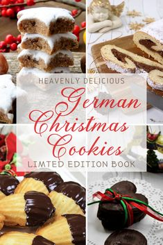 Experience an amazing world full of German Christmas treats. Create festive, scrumptious recipes for your family and friends. These mouthwatering traditional German treats will get your holiday spirit German Christmas Traditions, German Christmas Cookies, German Cookies, Christmas Sweets, Christmas Cooking, Yummy Cookies, Holiday Cookies, Holiday Treats, Holiday Recipes