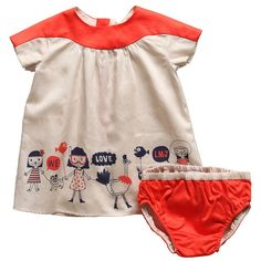 Girls Dress and Knickers Set - Previews | Childrensalon