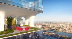 ODA proposes a Manhattan skyscraper with sky gardens