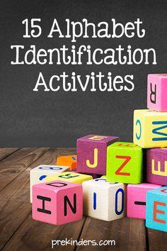 Alphabet Letter Identification Activities