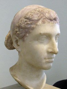 Cleopatra VII -- Last of the Ptolemy dynasty, Macedonians who ruled Egypt after the death of Alexander the Great. There is almost as much distance in time between Cleopatra and Ancient Egypt as between Cleopatra and ourselves. Ancient Egypt Pharaohs, Ancient Rome, Ancient History, Ancient Greece, Cleopatra History, Queen Cleopatra, Statues, Antonio Y Cleopatra, World History