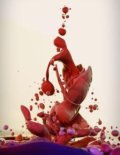Tinta, óleo, água e outras substâncias misturadas proporcionam fotos incríveis Tinta e óleo 4 580x745