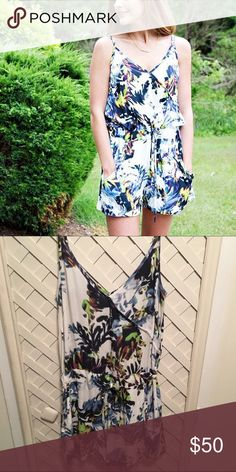 French Connection Romper Floral print French Connection Romper with draw string waist French Connection Dresses