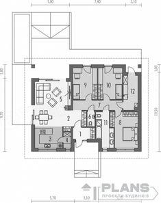 "Проект ""Enegy smart""   Plans   Проекты домов Village House Design, Village Houses, Home Projects, Architecture Design, House Plans, Floor Plans, Farmhouse, How To Plan, House Beautiful"
