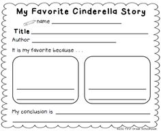 Cinderella and the Common Core Standards printables. Common Core Curriculum Maps English Language Arts Book Study. First Grade Unit 1, Lesson 6.  FREE!!! download.