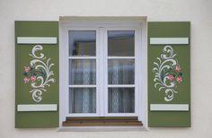 Building, Home, Window, Shutter, Painting, Art