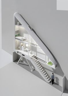 Inside The Keret House  the Worlds Skinniest House  by Jakub Szczesny (18)