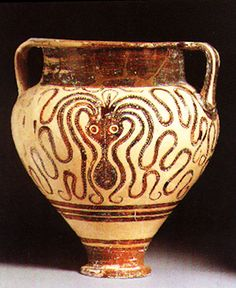 Double handled octopus vase, Mycenaean    1400-1300 BCE