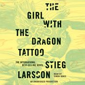I finished listening to The Girl with the Dragon Tattoo (Unabridged) by Stieg Larsson, narrated by Simon Vance on my Audible app.  Try Audible and get it free.