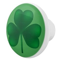 Shamrock Irish Ceramic Knob - saint patricks day st patricks holiday ireland irsih special party