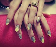 #nails #nailsgrayyellow  #nailsgray #paznokcie #yellownails