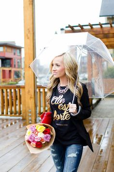 Gold Elle est Forte/Proverbs 31 Tshirt Rainy day style from SHE IS CLOTHING  www.sheisclothing.etsy.com