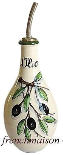 Italian Florence Handcrafted Handpainted Ceramic Pottery Olive OIL Bottle Spout | eBay