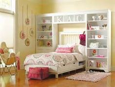bed with shelves around it - - Yahoo Image Search Results