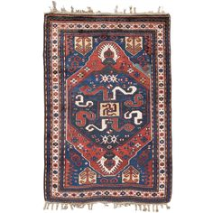 Cloudband Karabagh | See more antique and modern Caucasian Rugs at https://www.1stdibs.com/furniture/rugs-carpets/caucasian-rugs