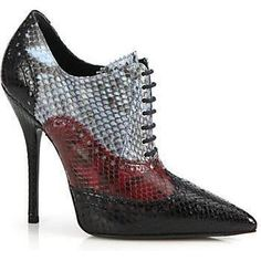 Gucci Gia Python Leather Brogues as seen on Olivia Palermo