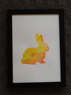Rabbit painting. Colourful Rabbit by TinkerTailorDesign on Etsy