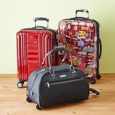 World map design 2 piece rolling luggage cosmetic train case http baggage wedding planning traveling gumiabroncs Gallery